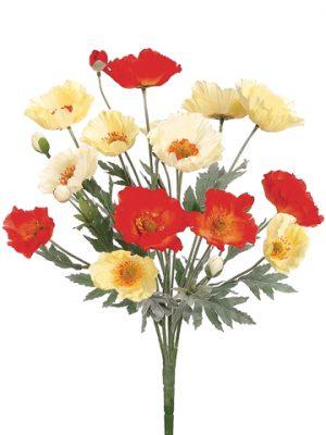 "21"" Poppy Bush x20 Orange Yellow"