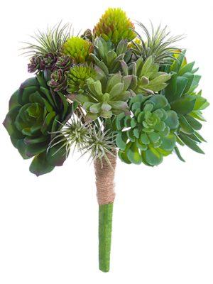 """9.5"""" Succulent Garden Bouquet Green"""