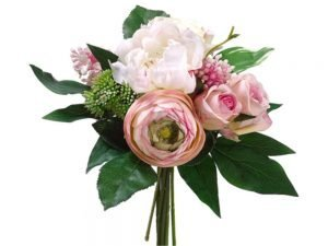 11in  Peony/Rose/Lilac Bouquet Pink Cream