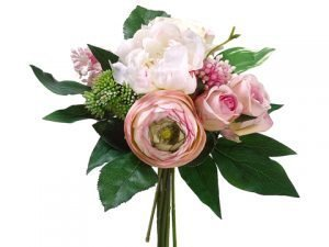 "11"" Peony/Rose/Lilac Bouquet Pink Cream"