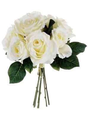 "11"" Rose Bouquet Cream"