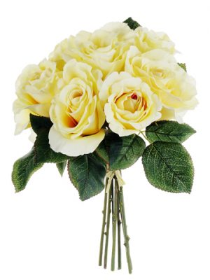 "11"" Rose Bouquet Yellow"