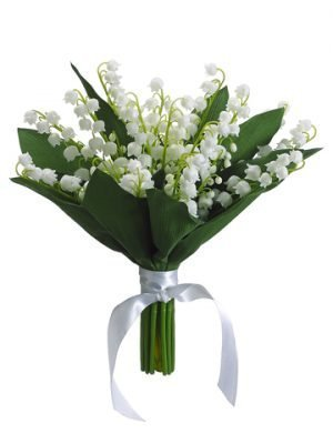 "10"" Lily of The Valley Bouquet Cream"
