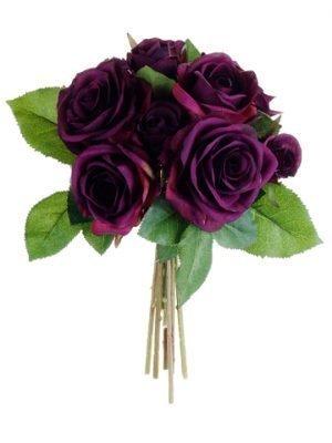 """9.5"""" Rose BouquetEggplant"""