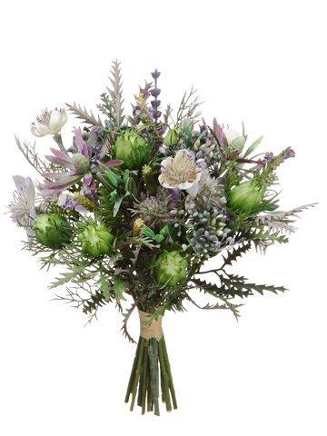 """11.5"""" Nigella/Protea PodBouquetPurple Lavender"""