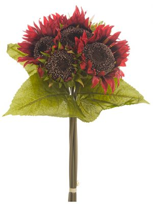 "13"" Sunflower Bouquet Red"