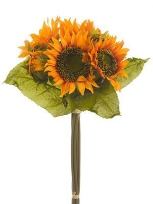 "13"" Sunflower Bouquet Orange"