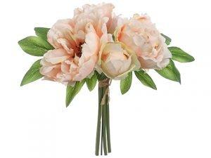 "10"" Peony Bouquet Peach"