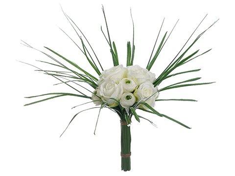 """14"""" Rose/Ranunculus BouquetWhite"""