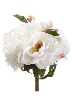 """11.5"""" Peony Bouquet Cream"""
