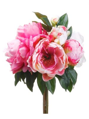 "11.5"" Peony Bouquet Pink Cream"