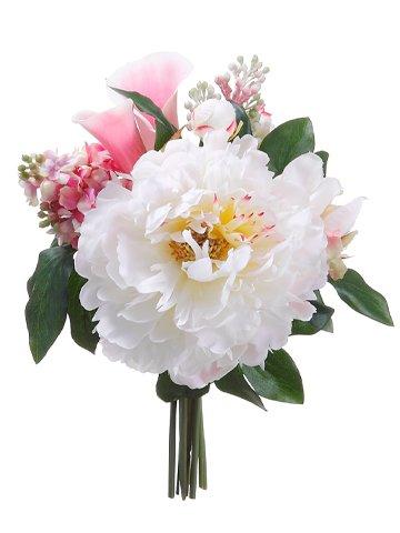 "11"" Peony/Lilac Bouquet Pink Cream"