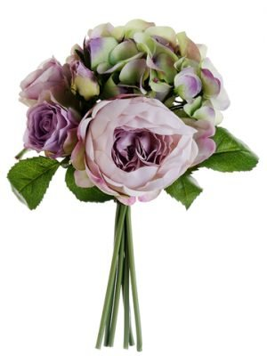 "11"" Hydrangea/Rose/PeonyBouquetLavender Green"