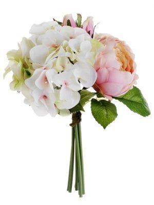 "11"" Hydrangea/Rose/PeonyBouquetPink Green"