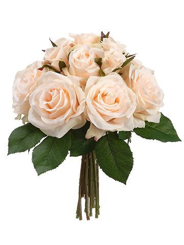"11.5"" Rose Bouquet  Peach Cream"