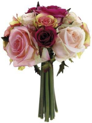 """9"""" Confetti Rose BouquetFuchsia Pink"""