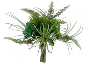 "10.5"" Succulent Garden Bouquet Green"