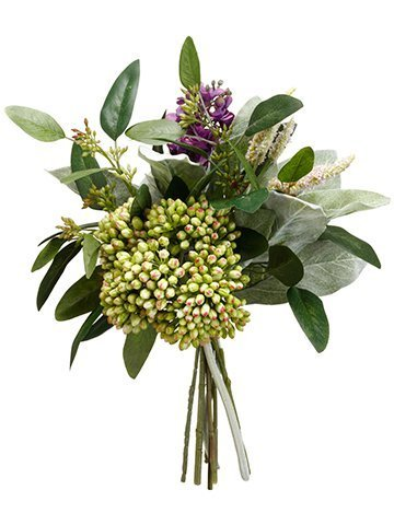 "12"" Lilac/Sedum/Lamb's EarBouquetPurple Green"