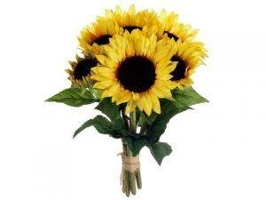 """16"""" Sunflower Bouquet x6 Yellow"""