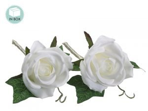 "5"" Rose Boutonniere (2 ea/box)  Cream"
