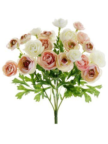 "10.5"" Mini Ranunculus Bush Pink Ivory"