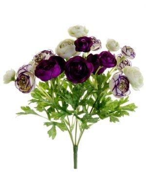 "10.5"" Mini Ranunculus Bush Violet Orchid"