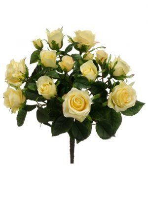 "15.5"" Rose Bush x7 Yellow"