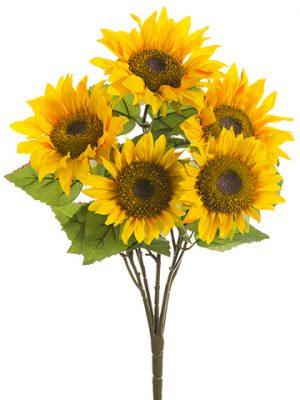 "21.5"" Sunflower Bush Yellow Gold"