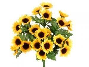 "11"" Mini Sunflower Bush x7 Yellow Gold"