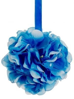 "4"" Hydrangea Kissing Ball  Blue"