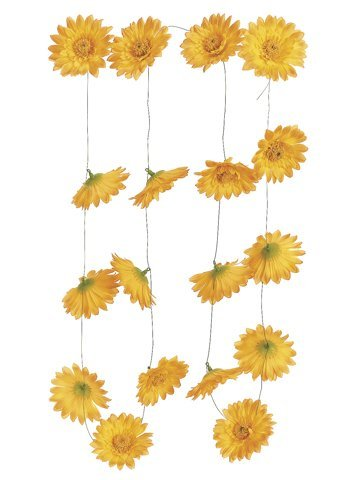 5.5' Gerbera Daisy Garland w/18 Flw.Yellow