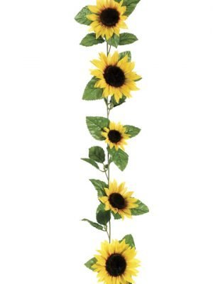 6' Sunflower Garland Yellow