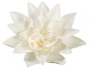 "16"" Dahlia Hanging FlowerHeadCream White"
