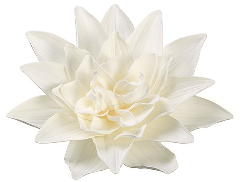 "16"" Dahlia Hanging Flower Head Cream White"