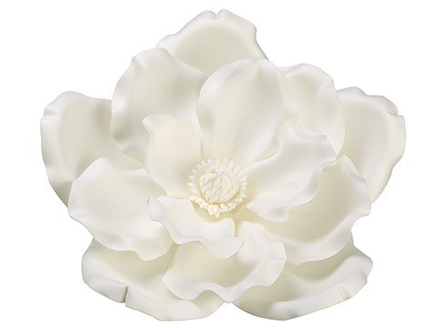"15"" Magnolia Hanging Flower Head Cream White"