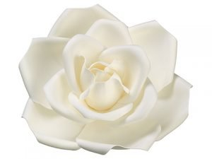 """13"""" Rose Hanging Flower HeadCream White"""
