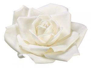"""24"""" Rose Hanging Flower HeadCream White"""