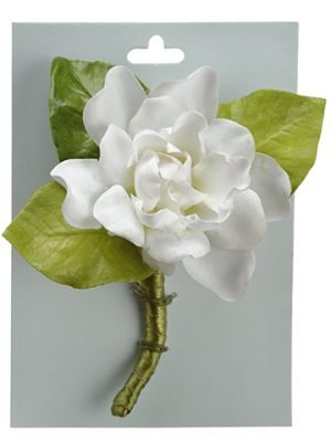 "5"" Gardenia Corsage on Card  White"