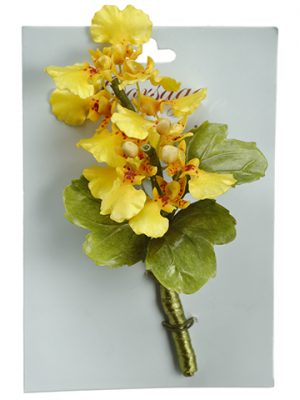 "5"" Oncidium Orchid Corsage on Card Yellow"