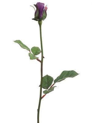 """23"""" Single Rose Bud Spray x1 Purple"""