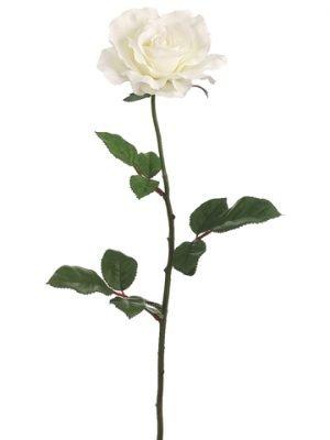 "27"" Single Large Rose Spray x1 Cream"