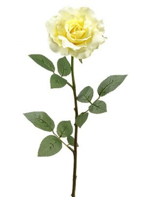 "27"" Single Large Rose Spray x1 Yellow"