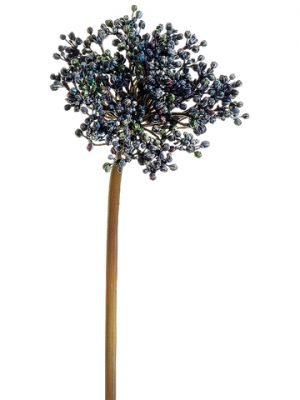 "24"" Allium Bud Spray Two Tone Blue"