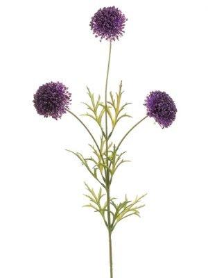 "29"" Berry Allium Spray x3 Two Tone Purple"