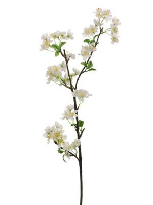 "37"" Apple Blossom Spray White"