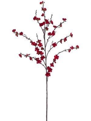 """50"""" Plum Blossom Spray Red"""