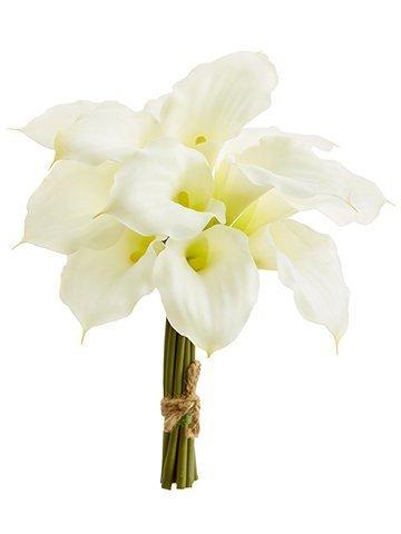 """11"""" Calla Lily Bundle x12 White"""
