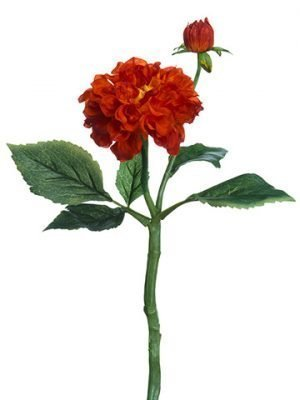 "13"" Dahlia Spray Orange"