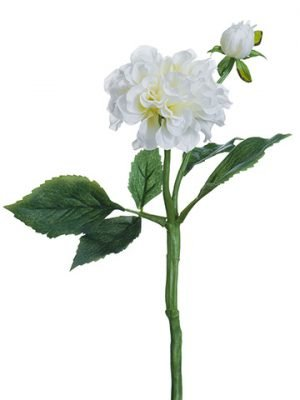 "13"" Dahlia Spray White"