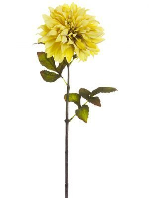 "22.5"" Dahlia Spray Antique Yellow"